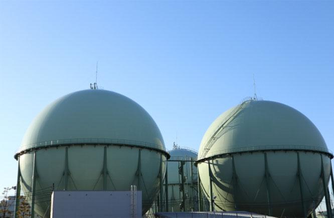 都市ガス ガスホルダー(貯蔵タンク)
