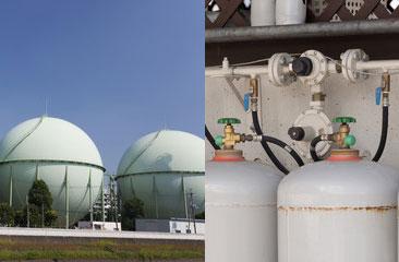 プロパンガスと都市ガスの違いと見分け方 イメージ
