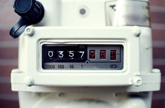 都市ガスメーター 指針部分